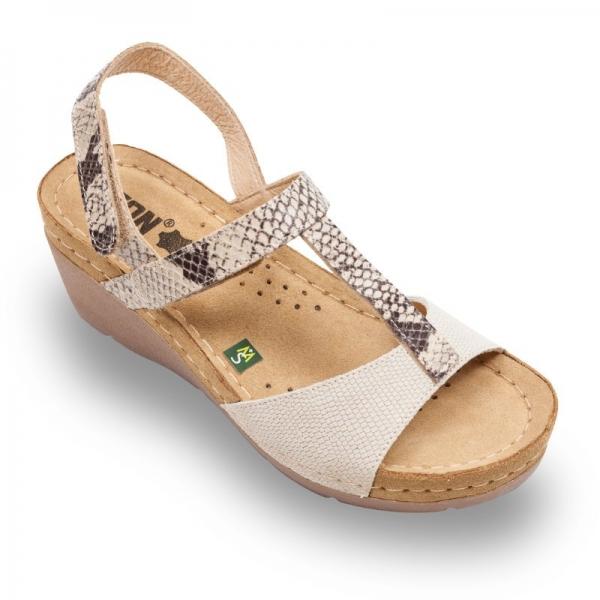 Sandale confortabile Leon 1061 Bej 0