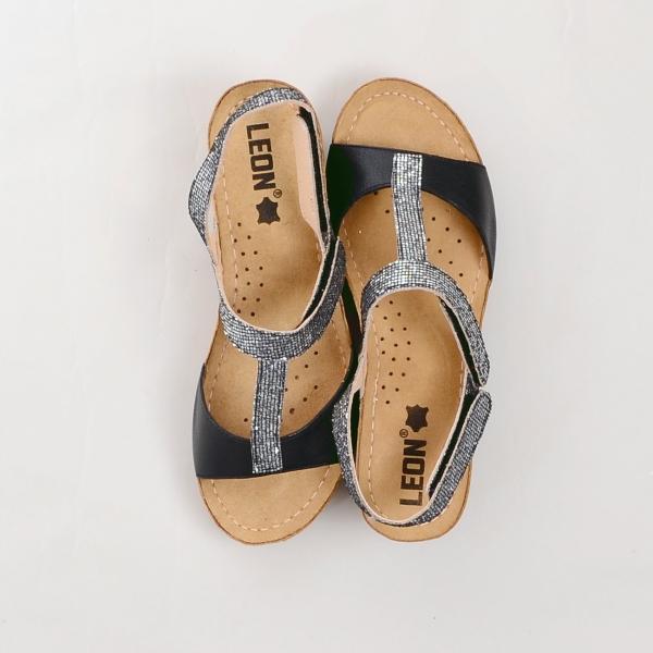 Sandale confortabile Leon 1061 Negru 1