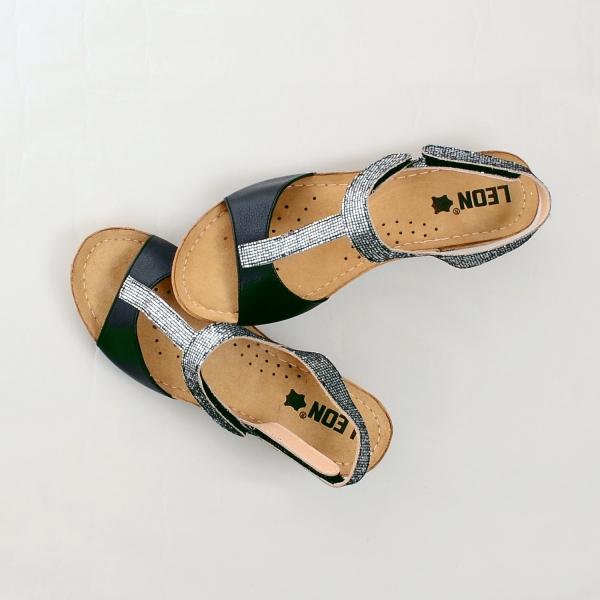Sandale confortabile Leon 1061 Negru 2