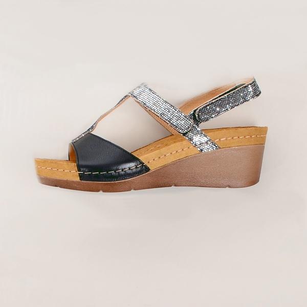 Sandale confortabile Leon 1061 Negru 3