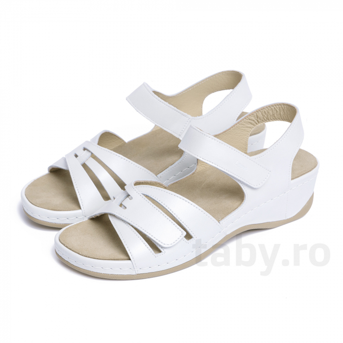 Sandale confortabile Leon 2021 Alb [2]