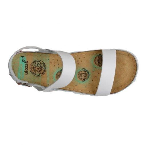 Sandale confortabile Leon 920 Alb 4