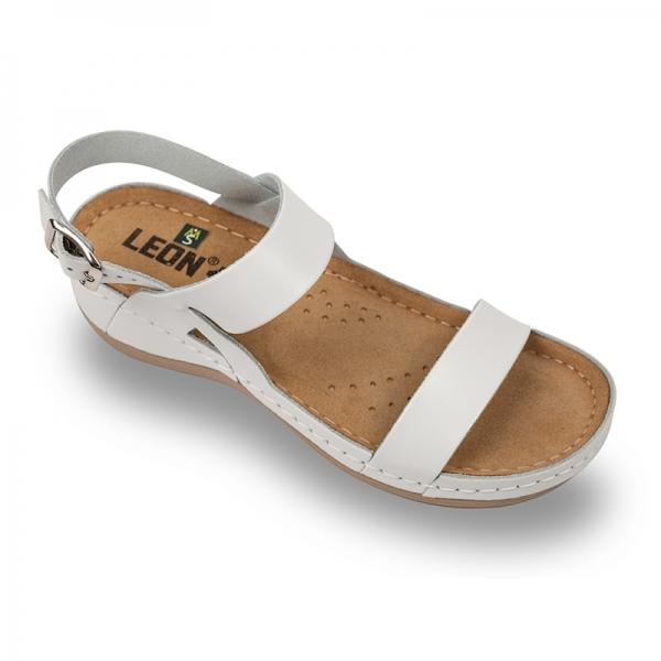Sandale confortabile Leon 920 Alb 0