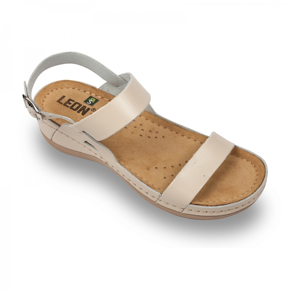 Sandale confortabile Leon 920 Bej 0