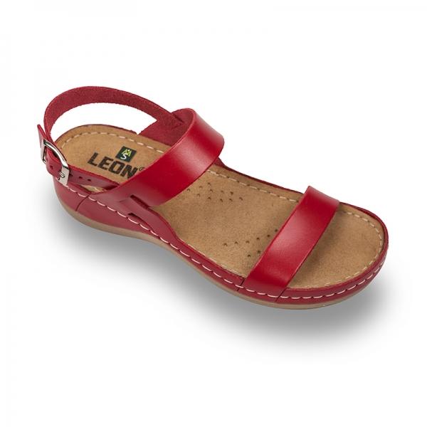Sandale confortabile Leon 920 Rosu 0