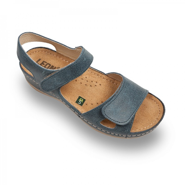 Sandale confortabile Leon 935 Albastru [0]