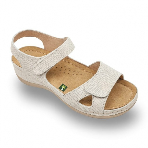 Sandale confortabile Leon 935 Bej-cu imprimeu 0