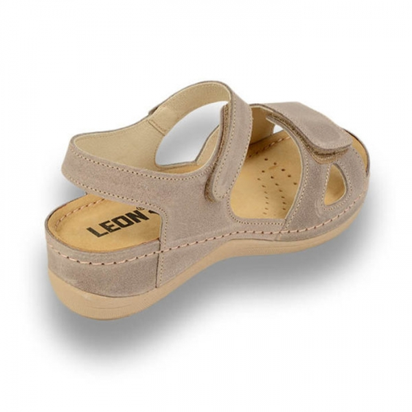 Sandale confortabile Leon 935 Gri-Maroniu 3