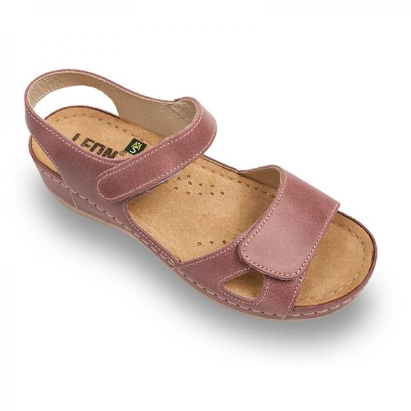 Sandale confortabile Leon 935 Rose 0