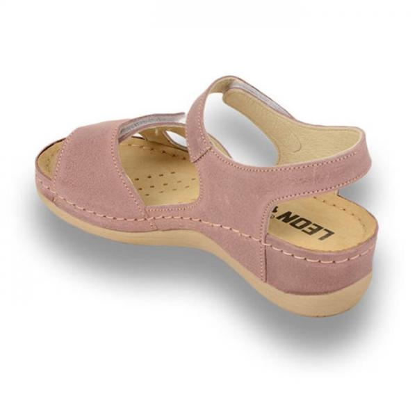 Sandale confortabile Leon 935 Rose 2