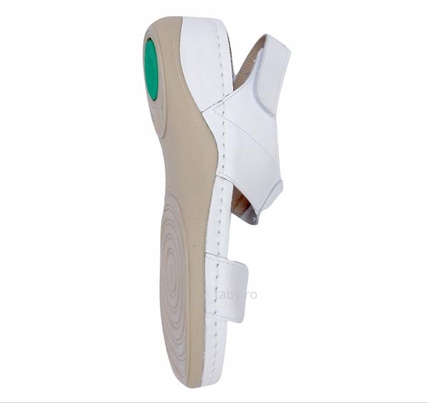 Sandale confortabile Leon 945 Alb 2