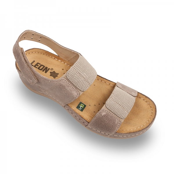 Sandale confortabile Leon 945 Gri-Maroniu 0
