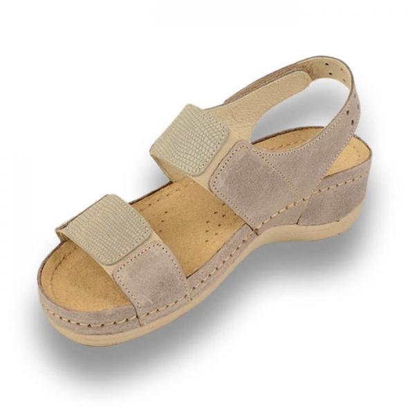 Sandale confortabile Leon 945 Gri-Maroniu 1
