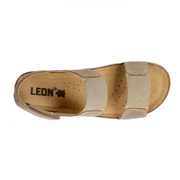 Sandale confortabile Leon 945 Gri-Maroniu 3