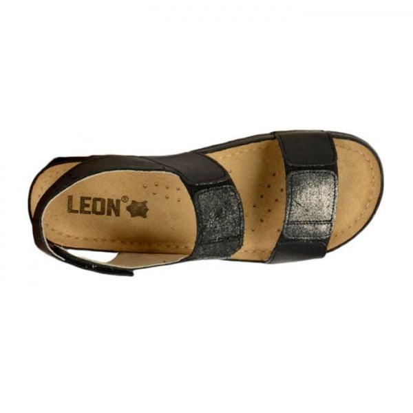 Sandale confortabile Leon 945 Negru [3]