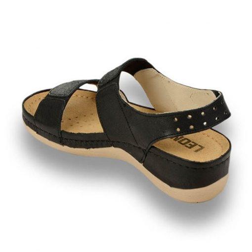 Sandale confortabile Leon 945 Negru [1]