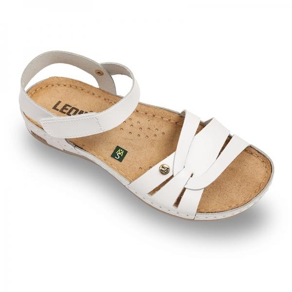 Sandale confortabile Leon 961 Alb 0