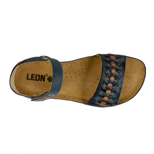 Sandale confortabile Leon 964 Albastru 4