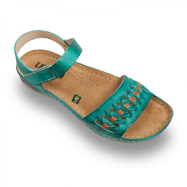 Sandale confortabile Leon 964 Turcoaz 0