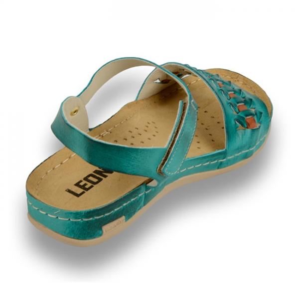 Sandale confortabile Leon 964 Turcoaz 3