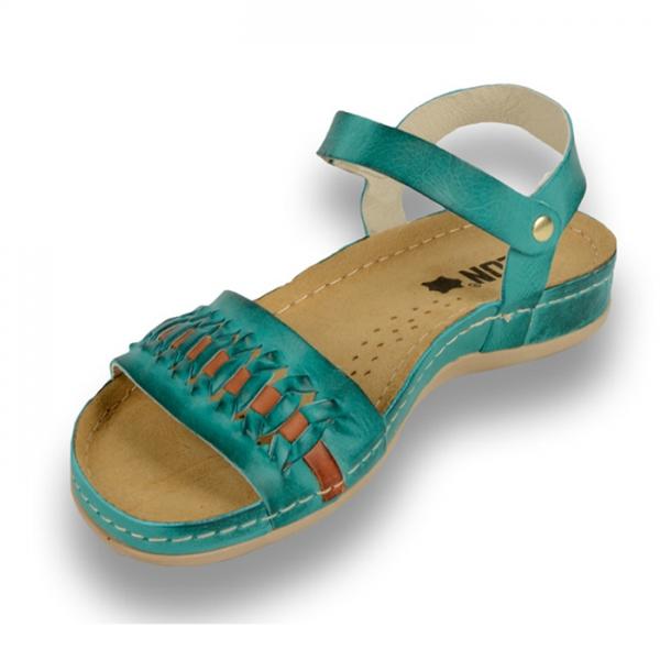 Sandale confortabile Leon 964 Turcoaz 1