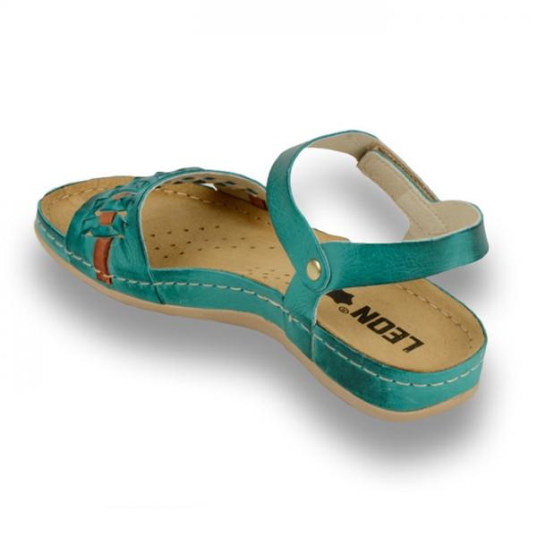 Sandale confortabile Leon 964 Turcoaz 2