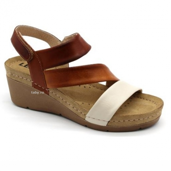 Sandale cu talpa ortopedica 1020 Maro 0