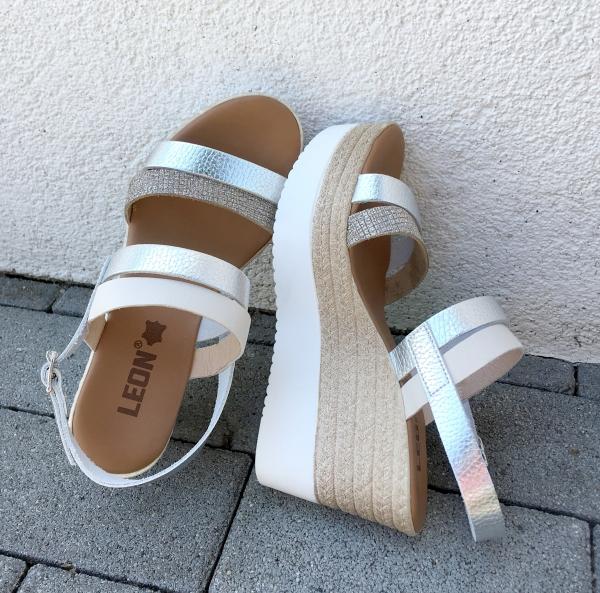 Sandale cu talpa ortopedica 1301 Silver 2