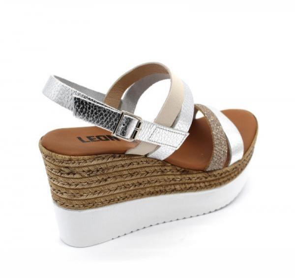 Sandale cu talpa ortopedica 1301 Silver 1