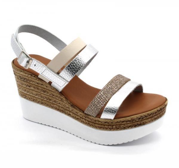 Sandale cu talpa ortopedica 1301 Silver 0