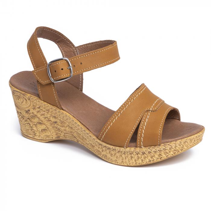 Sandale din piele naturala 195 Maro [0]