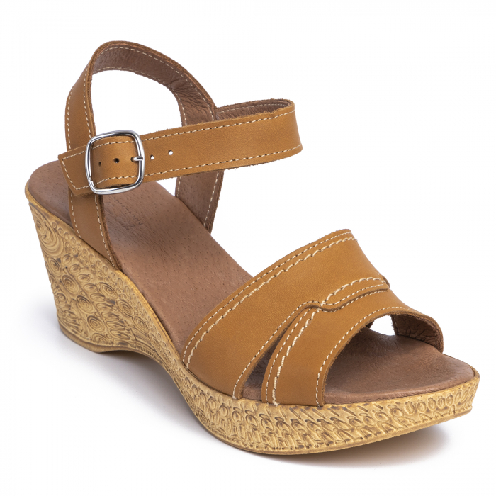 Sandale din piele naturala 195 Maro [2]