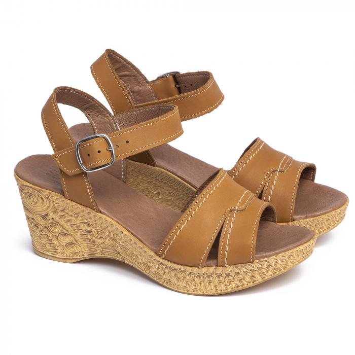 Sandale din piele naturala 195 Maro [1]