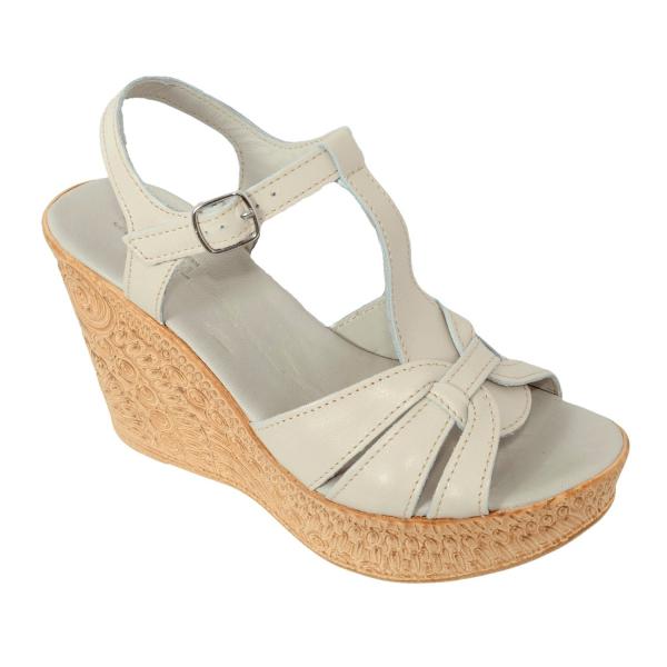 Sandale din piele naturala 204 Bej 0