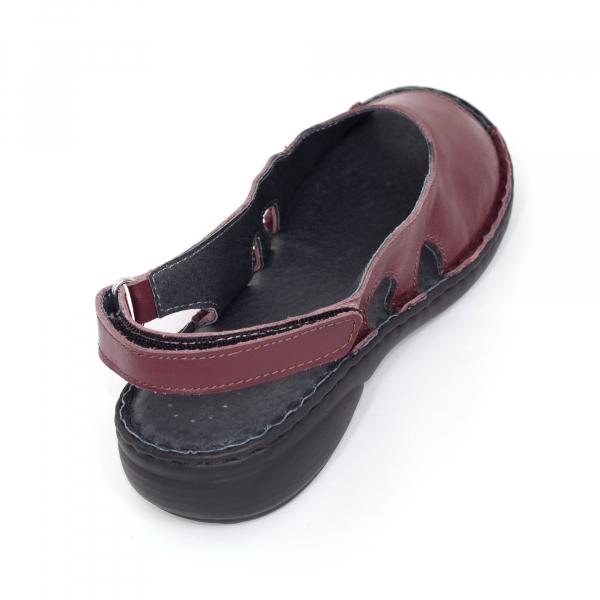 Sandale din piele naturala 230 bordo 3