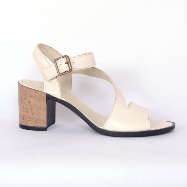 Sandale din piele naturala 250 Bej 1