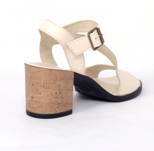 Sandale din piele naturala 250 Bej 2