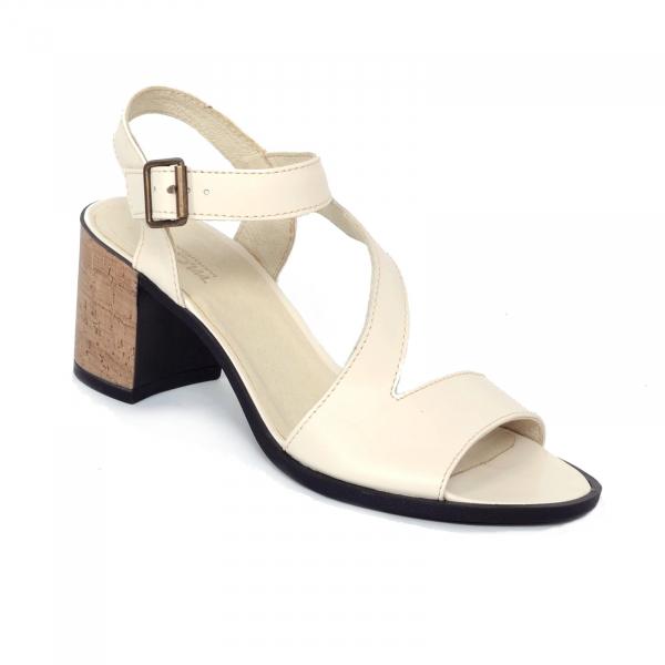 Sandale din piele naturala 250 Bej 0