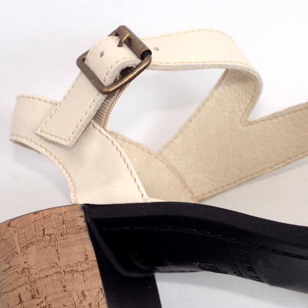 Sandale din piele naturala 250 Bej 3