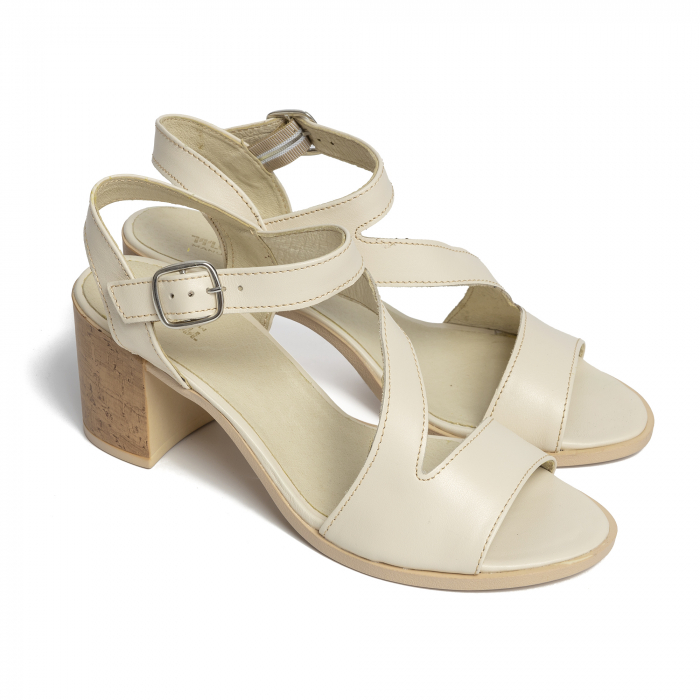 Sandale din piele naturala 250 talpa bej [1]