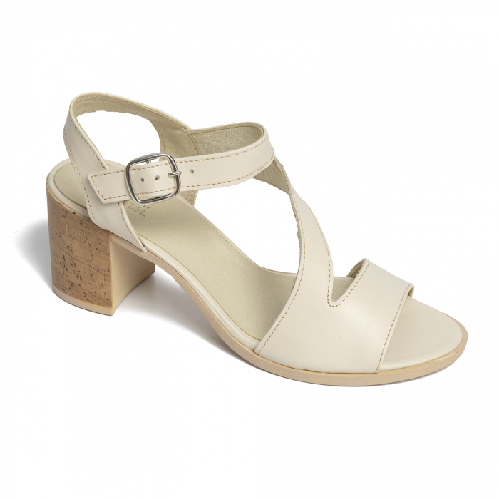 Sandale din piele naturala 250 talpa bej [0]