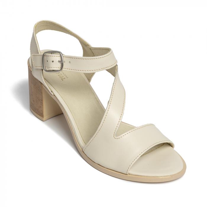 Sandale din piele naturala 250 talpa bej [2]