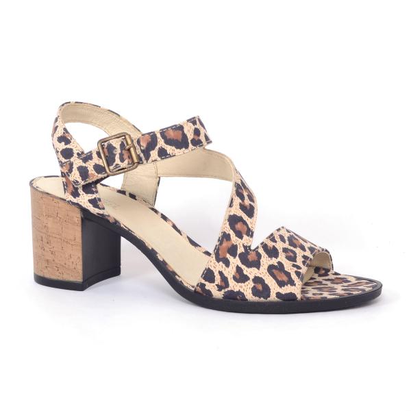Sandale din piele naturala 250 Leopard 2