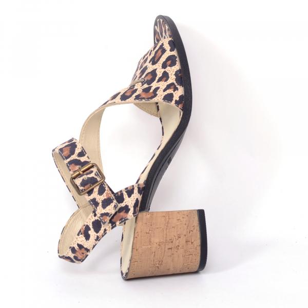 Sandale din piele naturala 250 Leopard 1