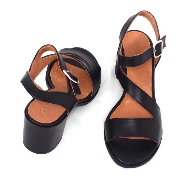 Sandale din piele naturala 250 Negru 3