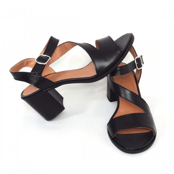 Sandale din piele naturala 250 Negru 2