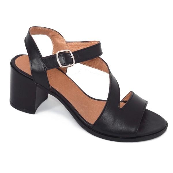 Sandale din piele naturala 250 Negru 0