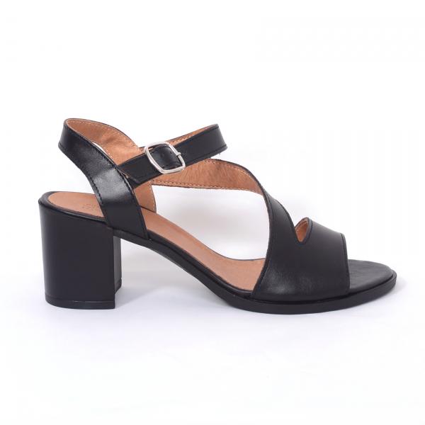 Sandale din piele naturala 250 Negru 1