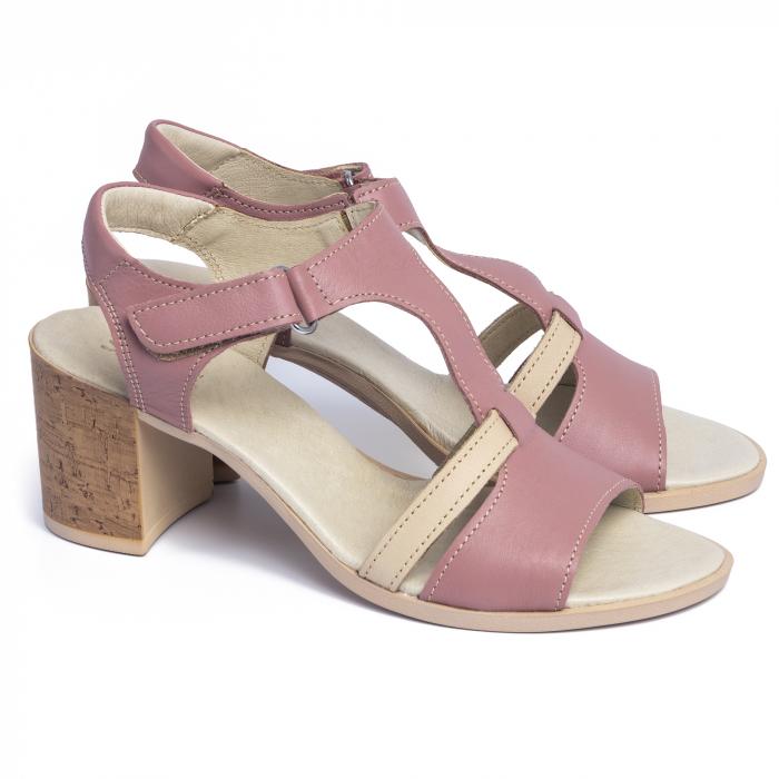 Sandale din piele naturala 260 Roz 1