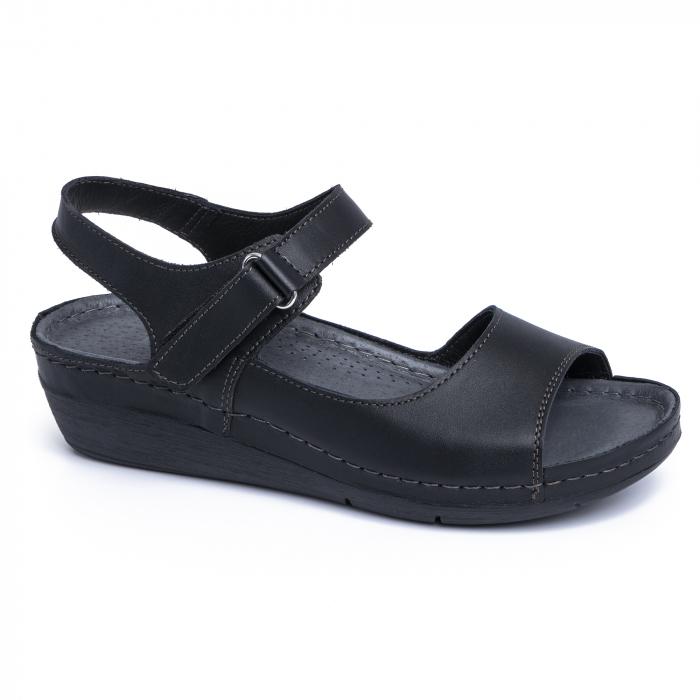 Sandale din piele naturala 257 Negru 0